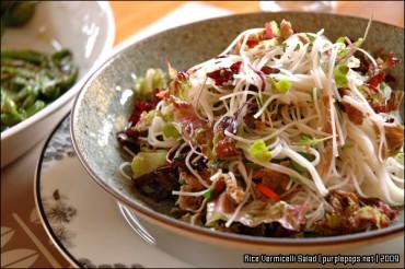 쌀국수 샐러드와 제철 채소 볶음