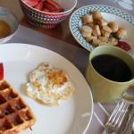 Breakfast. By Daddy.