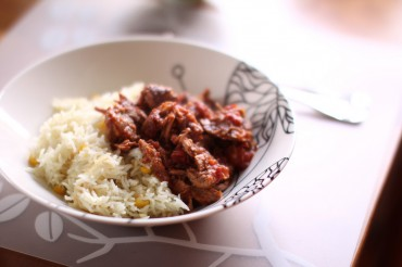 Pulled Pork Over Rice