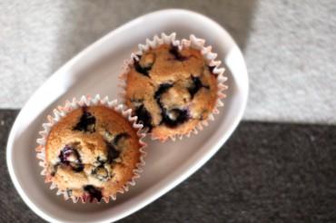 Spelt Blueberry Muffins