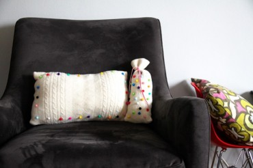Pom Pom Knit Pillows