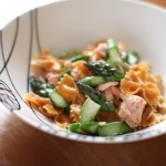 Farfalle with Salmon and Asparagus