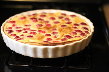 Baked Raspberry Custard