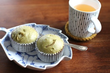 Steamed Green Tea Muffins